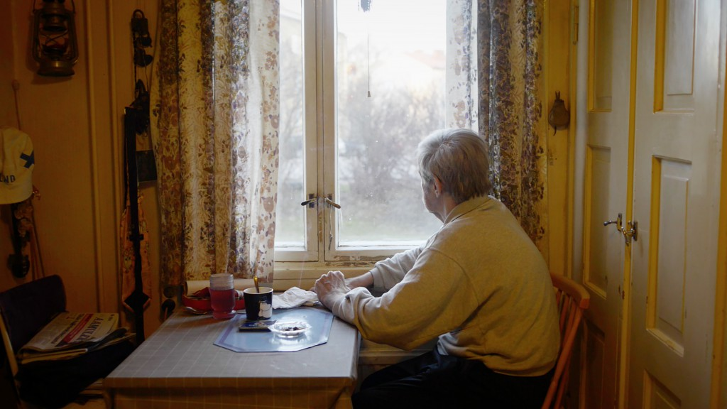 Otto, 67, sits in his kitchen at Hipposkylä, Finland. Otto is one of the main characters in the documentary 'Alone together' which won the Award of Excellence in CPOY 2016.